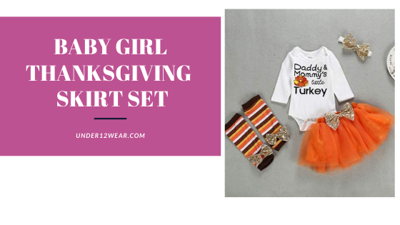 Baby girl thanksgiving skirt