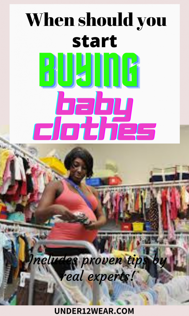 When should you start buying baby clothes