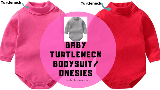 Turtleneck onesies for babies